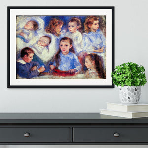 Images of childrens character heads by Renoir Framed Print - Canvas Art Rocks - 1