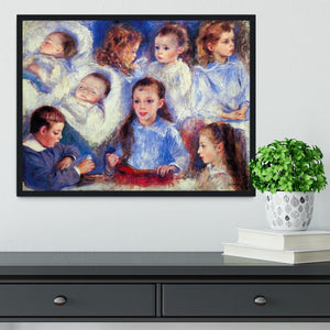 Images of childrens character heads by Renoir Framed Print - Canvas Art Rocks - 2