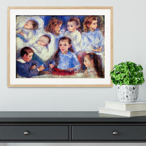 Images of childrens character heads by Renoir Framed Print - Canvas Art Rocks - 3