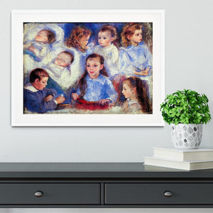 Images of childrens character heads by Renoir Framed Print - Canvas Art Rocks - 5
