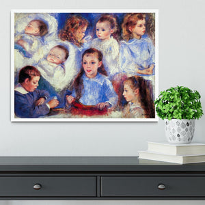 Images of childrens character heads by Renoir Framed Print - Canvas Art Rocks -6