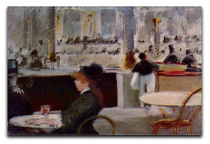 In Cafe 1 by Manet Canvas Print or Poster  - Canvas Art Rocks - 1