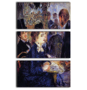 In the Cafe by Renoir 3 Split Panel Canvas Print - Canvas Art Rocks - 1