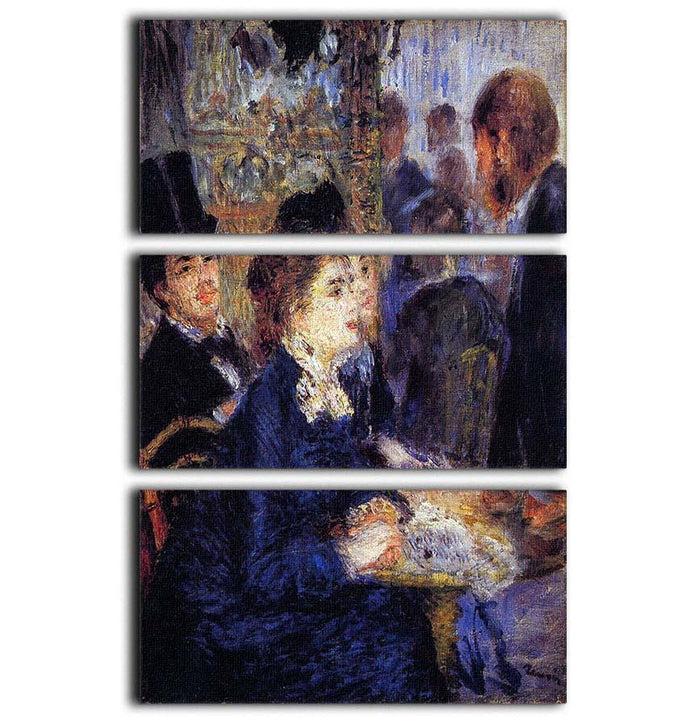 In the Cafe by Renoir 3 Split Panel Canvas Print