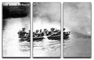 Infantry brigade assault boat drill 3 Split Panel Canvas Print - Canvas Art Rocks - 1