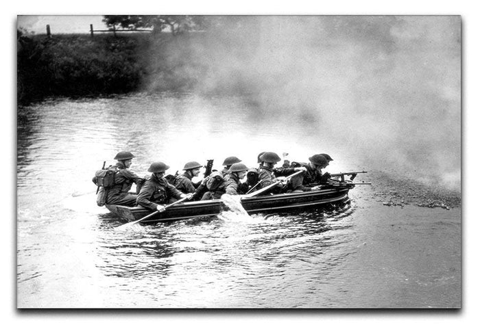 Infantry brigade assault boat drill Canvas Print or Poster
