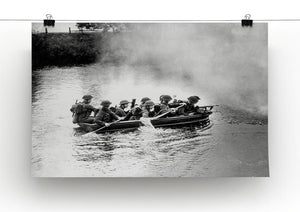 Infantry brigade assault boat drill Canvas Print or Poster - Canvas Art Rocks - 2