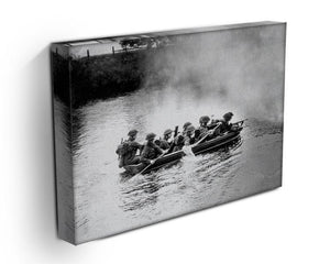 Infantry brigade assault boat drill Canvas Print or Poster - Canvas Art Rocks - 3