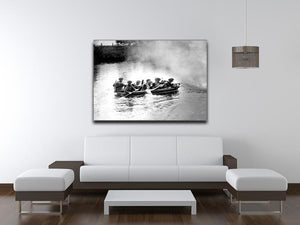 Infantry brigade assault boat drill Canvas Print or Poster - Canvas Art Rocks - 4