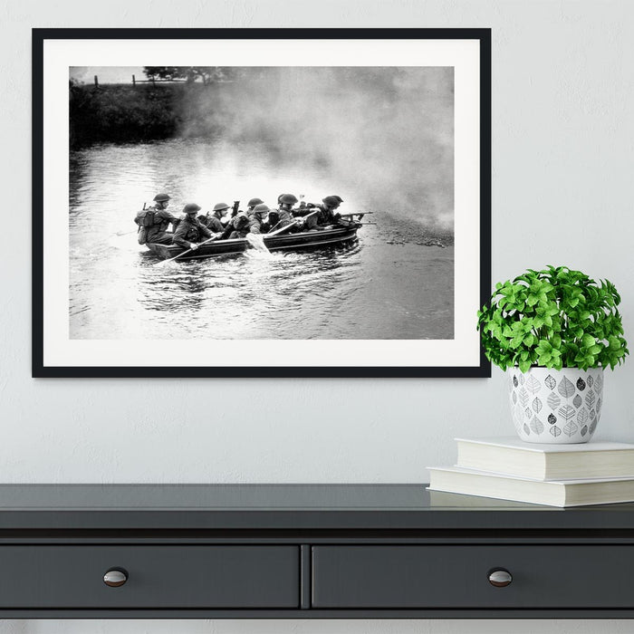 Infantry brigade assault boat drill Framed Print