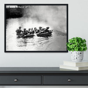 Infantry brigade assault boat drill Framed Print - Canvas Art Rocks - 2
