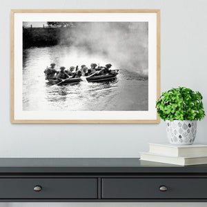 Infantry brigade assault boat drill Framed Print - Canvas Art Rocks - 3