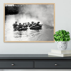 Infantry brigade assault boat drill Framed Print - Canvas Art Rocks - 4