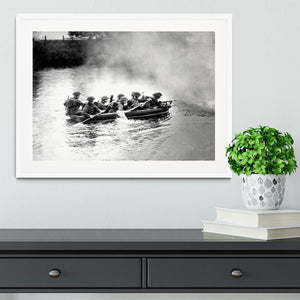 Infantry brigade assault boat drill Framed Print - Canvas Art Rocks - 5