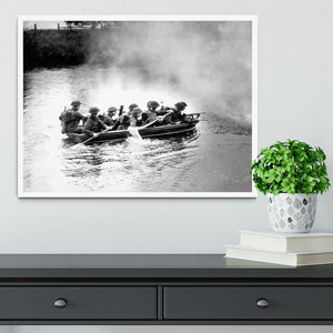Infantry brigade assault boat drill Framed Print - Canvas Art Rocks -6