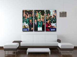 Ireland 6 Nations Grand Slam 2018 3 Split Panel Canvas Print - Canvas Art Rocks - 3