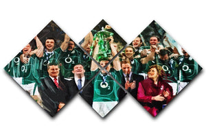 Ireland 6 Nations Grand Slam 2018 4 Square Multi Panel Canvas  - Canvas Art Rocks - 1