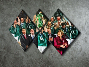 Ireland 6 Nations Grand Slam 2018 4 Square Multi Panel Canvas - Canvas Art Rocks - 2