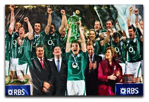 Ireland 6 Nations Grand Slam 2018 Canvas Print or Poster  - Canvas Art Rocks - 1