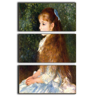 Irene Cahen d Anvers by Renoir 3 Split Panel Canvas Print - Canvas Art Rocks - 1