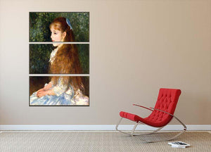 Irene Cahen d Anvers by Renoir 3 Split Panel Canvas Print - Canvas Art Rocks - 2