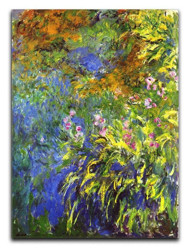 Iris at the sea rose pond 2 by Monet Canvas Print or Poster