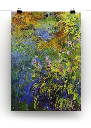 Iris at the sea rose pond 2 by Monet Canvas Print & Poster - Canvas Art Rocks - 2