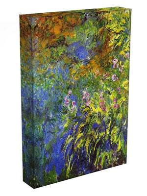 Iris at the sea rose pond 2 by Monet Canvas Print & Poster - Canvas Art Rocks - 3