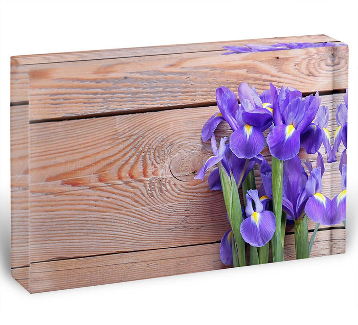Iris on an old wooden background Acrylic Block