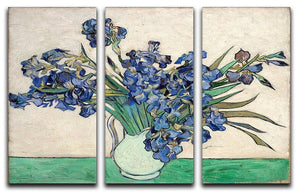 Irises in a vase 3 Split Panel Canvas Print - Canvas Art Rocks - 4