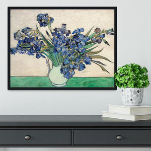 Irises in a vase Framed Print - Canvas Art Rocks - 2