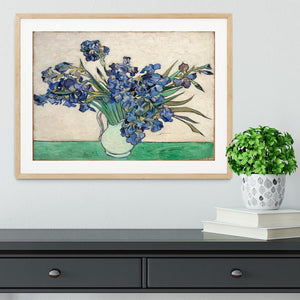 Irises in a vase Framed Print - Canvas Art Rocks - 3