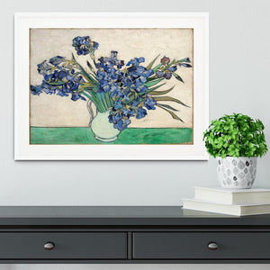 Irises in a vase Framed Print - Canvas Art Rocks - 5