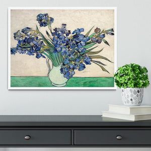Irises in a vase Framed Print - Canvas Art Rocks -6
