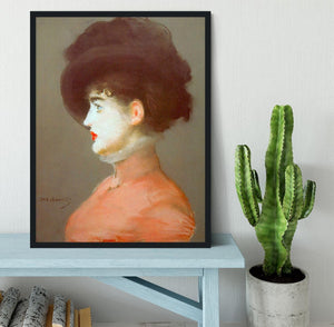 Irma Brunne by Manet Framed Print - Canvas Art Rocks - 2