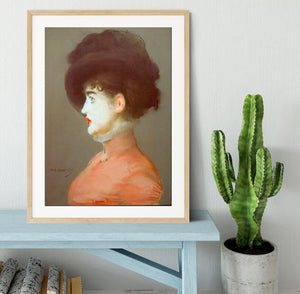 Irma Brunne by Manet Framed Print - Canvas Art Rocks - 3