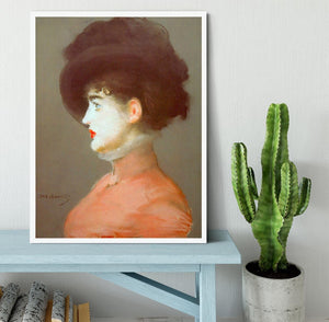 Irma Brunne by Manet Framed Print - Canvas Art Rocks -6