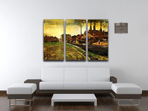 Iron Mill in The Hague by Van Gogh 3 Split Panel Canvas Print - Canvas Art Rocks - 4