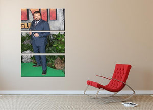 Jack Black 3 Split Panel Canvas Print - Canvas Art Rocks - 2