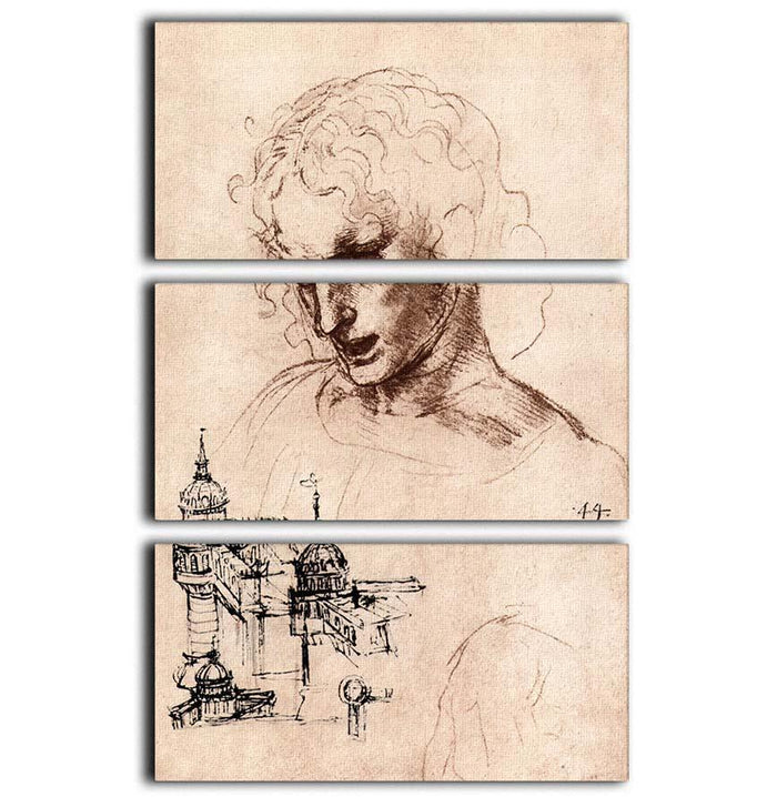Jacobus Maior by Da Vinci 3 Split Panel Canvas Print