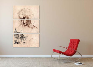 Jacobus Maior by Da Vinci 3 Split Panel Canvas Print - Canvas Art Rocks - 2