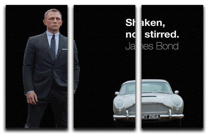 James Bond Shaken Not Stirred 3 Split Panel Canvas Print