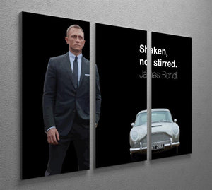 James Bond Shaken Not Stirred 3 Split Panel Canvas Print - Canvas Art Rocks - 2