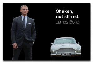 James Bond Shaken Not Stirred Canvas Print or Poster  - Canvas Art Rocks - 1