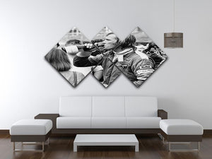 James Hunt swigging champagne 4 Square Multi Panel Canvas - Canvas Art Rocks - 3