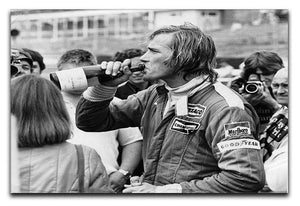 James Hunt swigging champagne Canvas Print or Poster  - Canvas Art Rocks - 1
