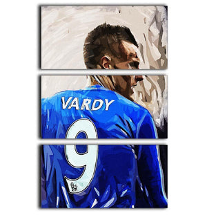Jamie Vardy 3 Split Panel Canvas Print - Canvas Art Rocks - 1