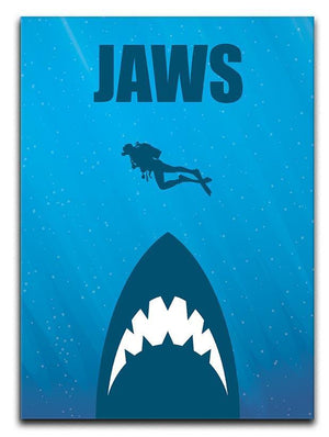 Jaws Minimal Movie Canvas Print or Poster  - Canvas Art Rocks - 1