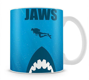Jaws Minimal Movie Mug - Canvas Art Rocks - 1
