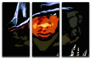 Jay Z 3 Split Panel Canvas Print - Canvas Art Rocks - 1